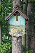 painted memorial in the forest Slovenia