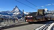 Summit station Gornergrat and Matterhorn