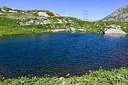 Lake at Gotthard pass