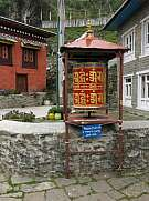 Big prayer wheel in the Everest Region