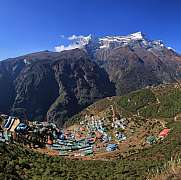 Village and holiday resort Namche Bazar