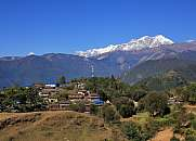 Village Ghale Gaun and Annapurna range