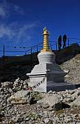 Buddhist stupa on top of Mount Santis, Switzerland.