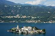 Lake Orta with San Giulio island