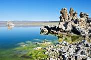 Mono Lake Tufa Rock Formations Green Water