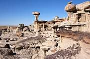 Hoodoos im Valley of Dreams, New Mexico, USA