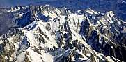 Mont Blanc Massif Aerial View