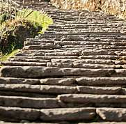 stairway steps to basecamp annapurna