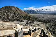 Stairs and bromo volcano in East Java