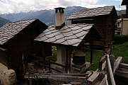 Village house with slate roof