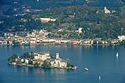 Lake Orta with island of San Giulio