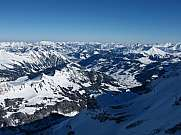 View towards Gstaad Glacier De Diablerets