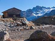 mountain shelter and Aiguille d'Argentiere