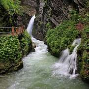 Thurfaelle, waterfalls in the Toggenburg valley