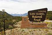 San Isabel National Forest Colorado USA Sign