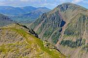 Peak of Lingmell and Great Gable, Wasdale, Lake District