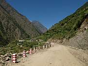 New road from Nepal to China village Rasuwagarhi