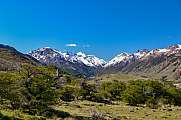 beautiful mountain scenery near El Chalten