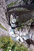 Devil's bridge at St. Gotthard pass