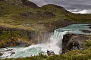Salto Grande waterfall at Torres del Paine national park, patagonia, Chile