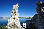 Mono Lake Tufa Rock Formations white column
