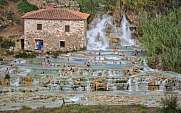 relaxing at Saturnia hot springs, Toskany, Italy