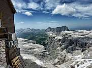 Italian Dolomites view from Refuge Piz Boe