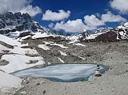 Little lake on the Ngozumba Glacier