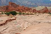 Quebrada de Cafayate national park rocks sand