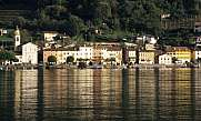 The village of Brusino-Arsizio on lake Lugano