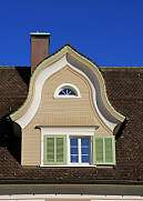Gable of a old house in the Toggenburg valley