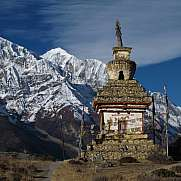 Stupa and Gangapurna