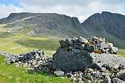 Scafell Pike and Scafell, stone wall at Lingmill