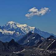 Distant view of Mt Blanc
