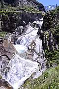 River near Devil's bridge at St. Gotthard pass