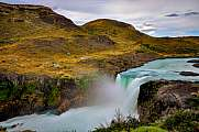 Salto Grande waterfall at Torres del Paine national park, patagonia, Chile. long exposure