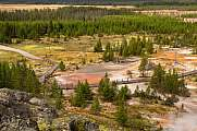 Die Wildnis im Yellowstone Nationalpark, Utah, USA