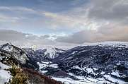 Winter view over the Pirineos in Navarra