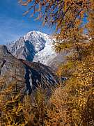 Mont Blanc in autumn italy