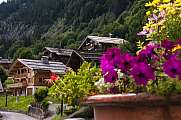 basket of flowers Grand-Bornand Chinaillon