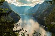 view from Malerwinkel over lake Koenigssee