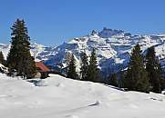 Winter landscape in Braunwald, Switzerland