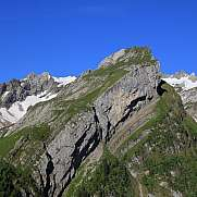Alpine fold in the Alpstein Range