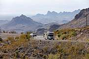 Camping Mobile am Sitgreaves Pass Arizona