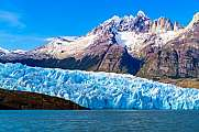 Grey Glacier at the Grey Lake in southern patagonia ice field