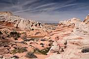 Panorama Blick des White Pocket Canyon, Arizona, USA