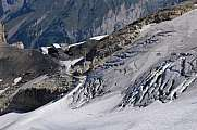 Glacier on top of mount Titlis
