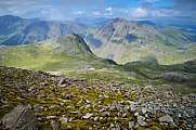 Great Gable and Lingmell from Scafell Pike