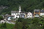 The rural village of Dangio on Blenio valley