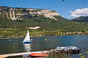 sailboat on lac de nantua